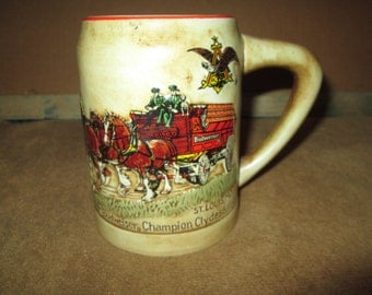 Vintage Budweiser Holiday Stein Made in Brazil by Ceramarte