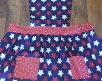 Patriotic Red White and Blue Apron