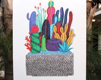 "XL Cactus Box Print - 18"" x 24"""