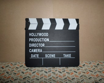Hollywood Production Clapper Chalkboard Pretend Play Decoration Party Classroom FUN