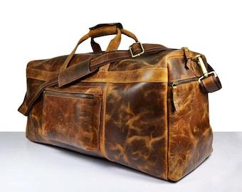 Leather travel bag   Etsy