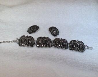 W. Germany Bracelet and Clip Earrings