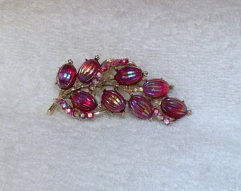 Coro Red Brooch