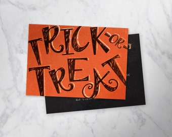 TRICK OR TREAT   |  playful halloween party invitation