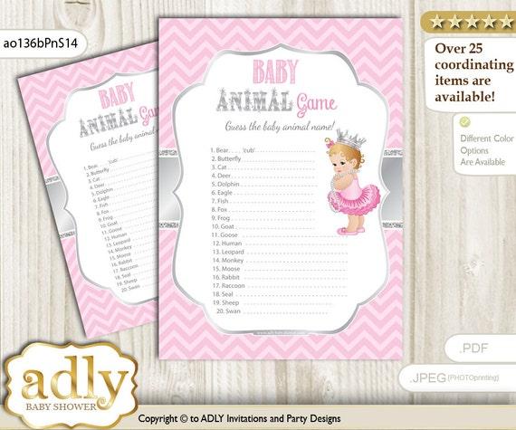 Royal Princess Baby Animal Game, Guess Animals Printable