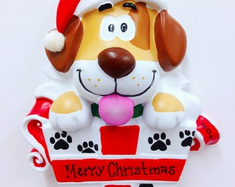 FREE SHIPPING Spotted Dog Christmas Ornament / New Puppy Ornament / Pet Christmas Ornament