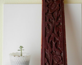 Chinese Art, Carved Wooden Panel, Chinese Bed Panel, Asian Decor