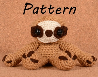 Sydney the Sloth Crochet Toy Doll Pattern
