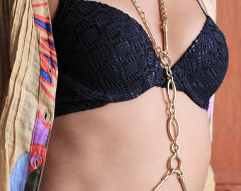 BARGAIN!!SALE CEARANCE! body chain stock! Was 40USD  usd now 16USD Gold Body Chain, Burlesque, Fashion