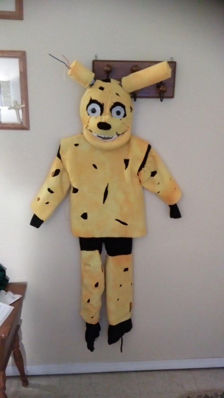 Fnaf springtrap inspired full costume kids size door diddlesweets
