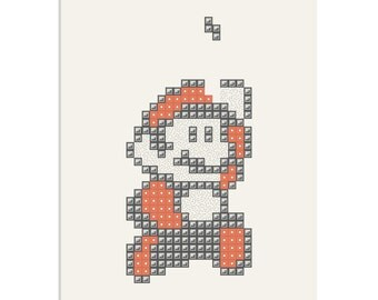 Super Mario Tetris - a Video Games inspired, limited edition screenprint