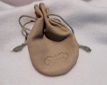 Super Soft H Stern Calfskin Drawstring Jewelry Bag, c. 1970