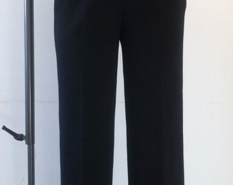 Vintage 1960's high waisted black trousers/ pants size S