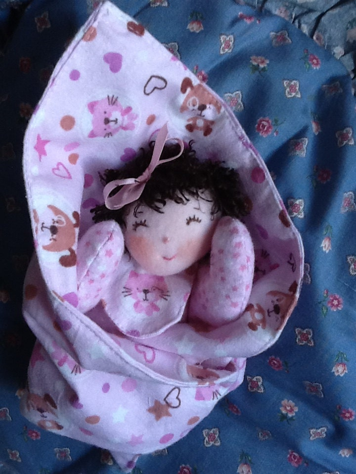 Easy Pdf Cloth Rag Doll Pattern Swaddlekins Swaddle Baby W