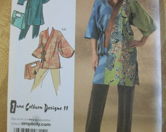 Simplicity 4134 Misses (Size AA xxs, xs, s, m)  Everybody kimono in 2 lengths and bag