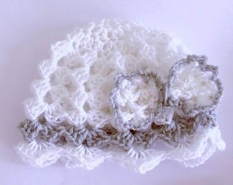 Crochet baby hat with bow, baby hats, crochet infant hat, gift for baby, baby gift, Easter gift, newborn hat