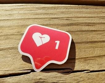 Instagram Heart Notification Icon - Legs Crossed