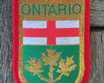 Ontario Vintage Travel Patch by J&J Cash