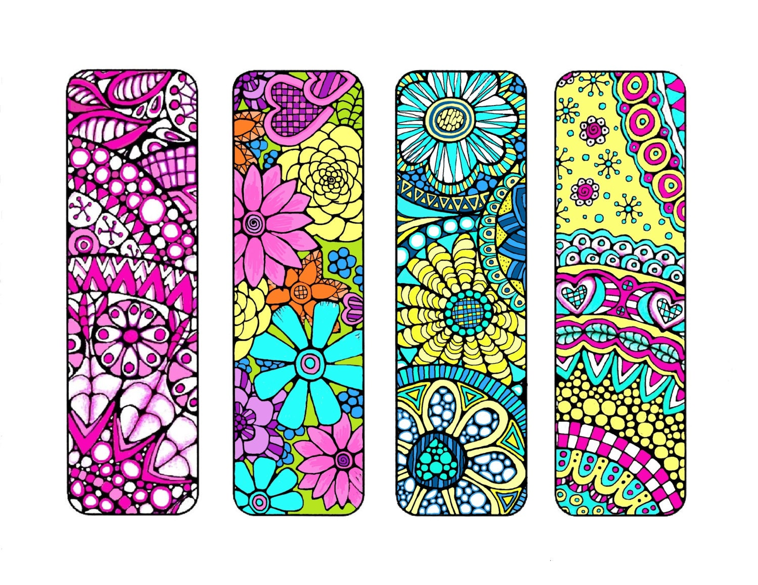 This is a picture of Intrepid Printable Bookmarks to Color