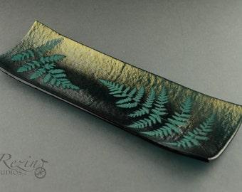 Fused Glass Fern Tray