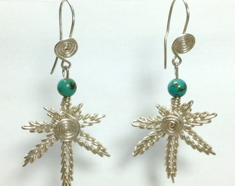 Cannabis leave earrings 'legalize'