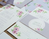 SAMPLE PACK Pretty Pastels Floral Wedding Invitations