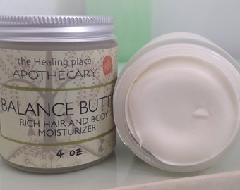 Natural Moisturizer, BALANCE BUTTER, Best Body Butter, Natural Skin Care 4oz