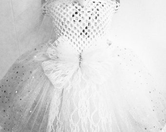 June Bride Tutu-Ready2Ship  Perfect 4:  pageant wear, ooc, birthday, photo shoot, Halloween, wedding, or just dress up play!