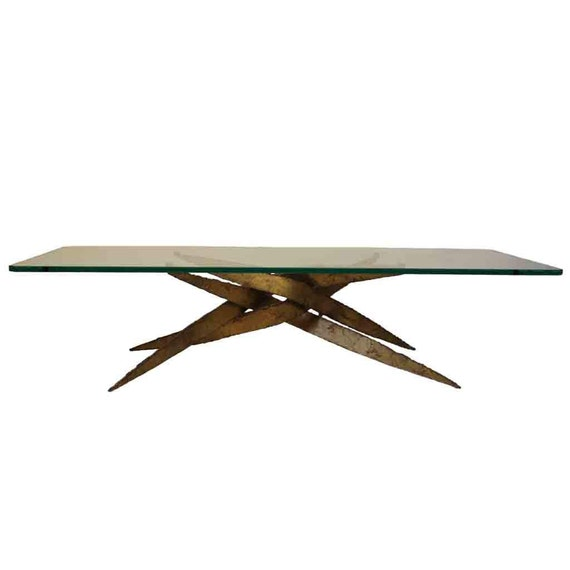 Glass Top Coffee Table In Silas Seandel Style: By DejaVuLB