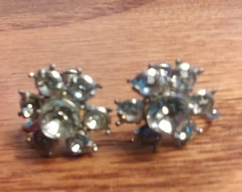 Rhinestone daisy earring no204