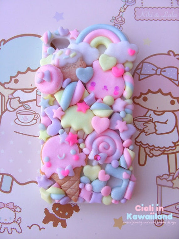 Super cute kawaii back case with lovely cookie ice cream for Iphone 6 plus and Galaxy Note