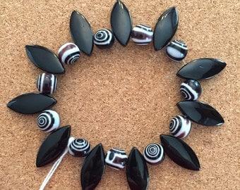 Black & White spiked bracelet