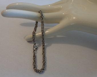 Chainmalle Byzantine Bracelet, Minimalist Chain Bracelet, Stainless Steel Chainmaille Bracelet, Minimalist Micro Chain Chainmaille Bracelet