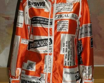 King James California Mod Advertising Blouse Shirt size M