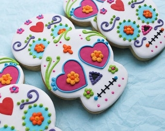 Modernized Book of Life / Day of the Dead Inspired Cookies