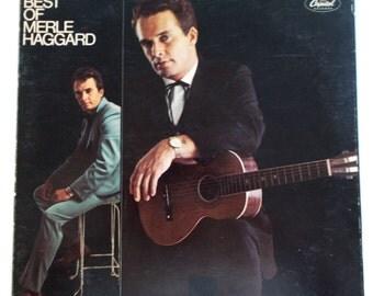 The Best of Merle Haggard Vinyl LP Record SKAO-2951