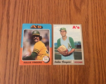 2 Vintage Rollie Fingers Cards from the 70's