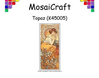 MosaiCraft Pixel Craft Mosaic Art Kit 'Topaz' (Like Mini Mosaic and Paint by Numbers)