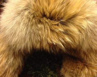 Coyote Fur Aviator Style Hat