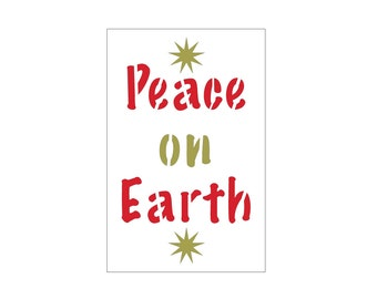Peace on Earth Craft Stencil