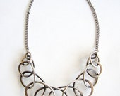 Summer Sale Henry Steig American Modernist Sterling Silver Coiled Loops Necklace