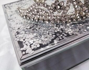 Glittering Princess Tiara Jewelry Box