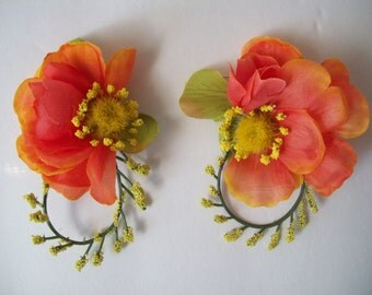 Yellow Flower Earrings, Romantic Earrings, Gifts for Her,Coachella, Bridal Jewelry