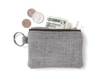 Keychain Coin Purse Slim Wallet Zipper Pouch