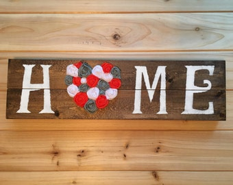 home sign, Shabby Chic home sign, Rustic home sign, french country, home decor