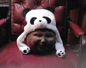 Handmade Panda Hat One Size Fits Most