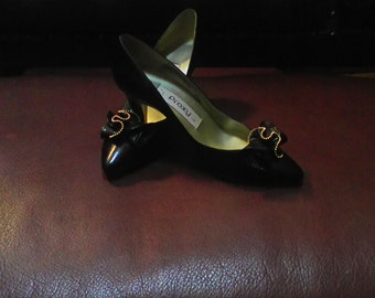 Women's Black High Heels Size 7.5 M.Made In Spain
