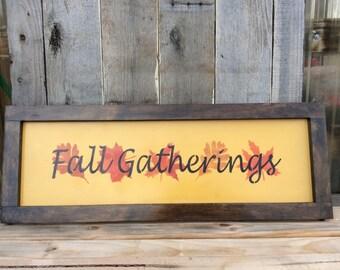 Fall gatherings
