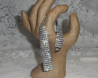Elegant Vintage Rhinestone Bracelet, Bridal Jewelry, Wedding Jewelry, Black Tie Party