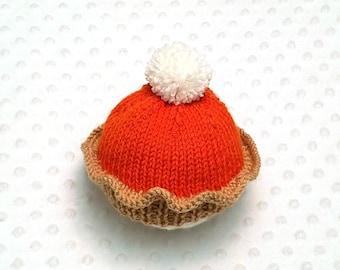 Pumpkin Pie Baby Hat • Thanksgiving Baby Hat • Pumpkin Pie Newborn Hat • Fall Newborn Hat • Fall Baby Hat • Autumn Baby Hat • Baby Gift
